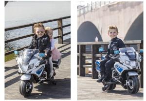 Motocicleta electrica POLICE BMW R1200 CU ROTI MOI #Alb6