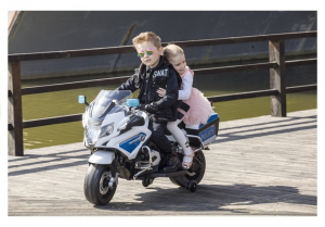 Motocicleta electrica POLICE BMW R1200 CU ROTI MOI #Alb5