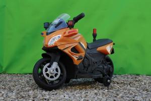 Motocicleta electrica POLICE cu roti ajutatoare STANDARD #Orange3