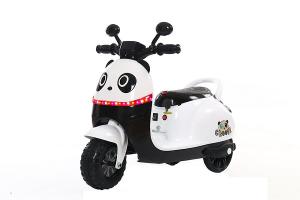 Tricicleta electrica pentru copii Panda 20W 6V #Alb0