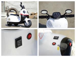 Tricicleta electrica pentru copii Panda 20W 6V #Alb4