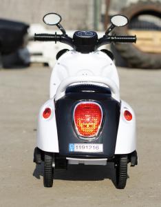 Tricicleta electrica pentru copii Panda 20W 6V #Alb2