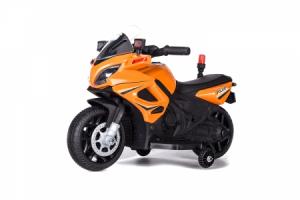 Motocicleta electrica POLICE cu roti ajutatoare STANDARD #Orange0