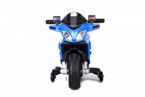 Motocicleta electrica POLICE cu roti ajutatoare STANDARD #Albastru2