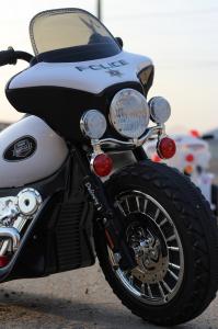 Motocicleta electrica pentru copii, POLICE JT568 25W STANDARD #Alb7