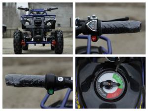 Mini ATV electric NITRO Torino Deluxe Quad 800W 36V #Albastru [7]