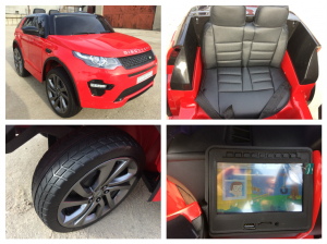 Kinderauto Land Rover Discovery DELUXE cu Touchscreen Mp4 #Rosu8
