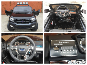Masinuta electrica Ford Ranger WildTrak STANDARD 2x 35W 12V #Negru8