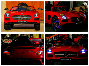 Masinuta electrica Mercedes SLS AMG PREMIUM #Rosu6