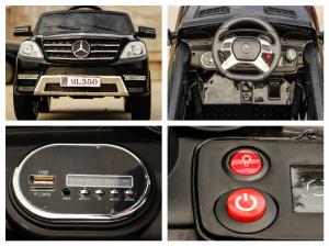 Masinuta electrica Mercedes ML350 2x25W STANDARD 12V #Negru7