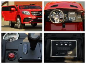Masinuta electrica Mercedes GLS63 AMG 4x4 PREMIUM 24V #Rosu8