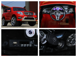 Masinuta electrica Mercedes GLK350 PREMIUM 2x35W 2X6V #Rosu6