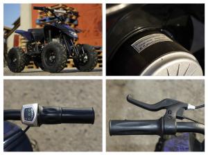Mini ATV electric Pentru copii NITRO Eco Trio Quad 350W 24V #Albastru7