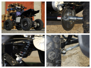 Mini ATV electric Pentru copii NITRO Eco Trio Quad 350W 24V #Albastru8