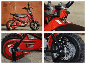 Mini Motocicleta electrica pentru copii NITRO ECO Flee 250W #Rosu6