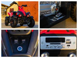 ATV EVA - Quad electric pentru copii 2x 45W 12V #Rosu8