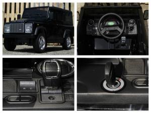 Masinuta electrica Land Rover Defender 2x35W 12V cu ROTI MOI #Negru7