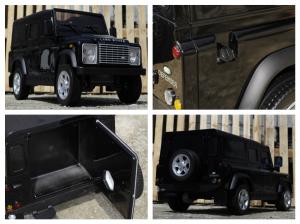 Masinuta electrica Land Rover Defender 2x35W 12V cu ROTI MOI #Negru8