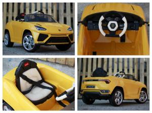 Masinuta electrica Lamborghini Urus CU SCAUN TAPITAT 12V #Galben6