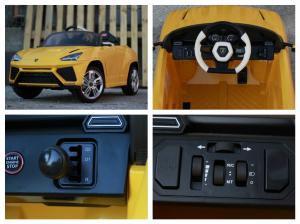Masinuta electrica Lamborghini Urus CU SCAUN TAPITAT 12V #Galben7
