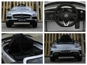 Masinuta electrica Mercedes SLS AMG PREMIUM #Silver6