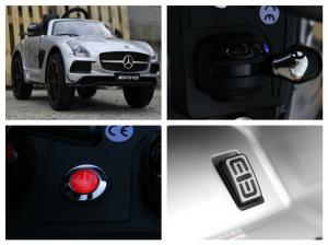 Masinuta electrica Mercedes SLS AMG PREMIUM #Silver8