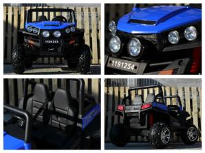 UTV electric pentru copii Golf-Kart 4x4 180W  PREMIUM #Albastru6