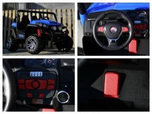 UTV electric pentru copii Golf-Kart 4x4 180W  PREMIUM #Albastru7