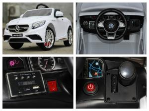 Masinuta electrica Mercedes S63 12V PREMIUM #ALB8