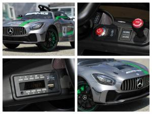 Masinuta electrica copii 2-5 ani Mercedes GT-R gri [8]