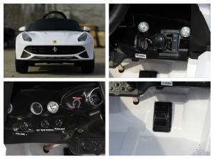 Masinuta electrica Ferrari F12 1x 25W STANDARD 12V #Alb8