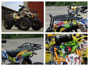 Mini ATV electric pentru copii NITRO Torino Quad 1000W 48V #Galben6