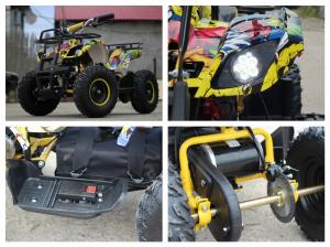 Mini ATV electric pentru copii NITRO Torino Quad 1000W 48V #Galben8
