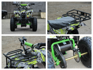 Mini ATV electric pentru copii NITRO Torino Quad 1000W 48V #Verde7