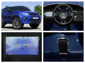 Masinuta electrica Land Rover Discovery DELUXE cu Touchscreen Mp4 #Albastru8