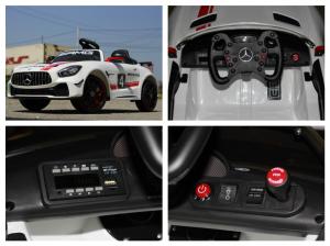 Masinuta electrica Mercedes GT-R 2x25W STANDARD #Alb8