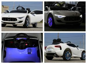 Masinuta electrica Maserati Alfieri CU ROTI MOI 12V 2x35W #Alb7