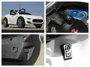 Masinuta electrica Maserati Alfieri CU ROTI MOI 12V 2x35W #Alb8