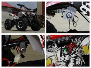 Mini ATV electric pentru copii NITRO Torino Quad 1000W 48V #Alb5