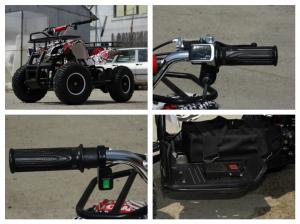 Mini ATV electric pentru copii NITRO Torino Quad 1000W 48V #Alb7