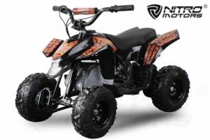 Mini ATV electric Pentru copii NITRO Eco Trio Quad 350W 24V #Portocaliu0