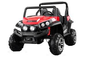 UTV electric pentru copii Golf-Kart 4x4 180W  PREMIUM #Rosu0