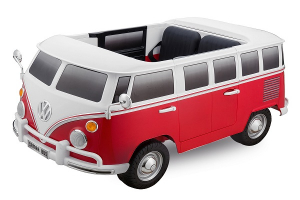 Masinuta electrica VW Samba Bus 2x45W, PREMIUM #Rosu1