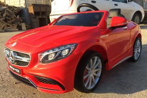 Masinuta electrica Mercedes S63 12V PREMIUM #ROSU1
