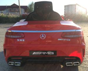 Masinuta electrica Mercedes S63 12V PREMIUM #ROSU4