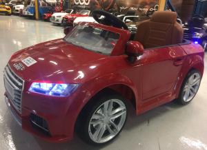 Kinderauto Audi TTS 2x 30W 12V PREMIUM #Rosu3