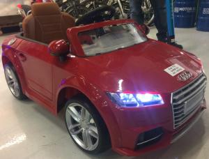 Masinuta electrica Audi TTS 2x 30W 12V PREMIUM #Rosu4