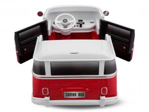Masinuta electrica VW Samba Bus 2x45W, PREMIUM #Rosu3