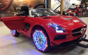 Masinuta electrica Mercedes SLS STANDARD 2x 25W 12V # Rosu13