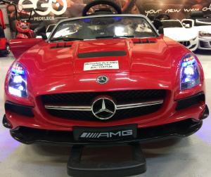 Masinuta electrica Mercedes SLS STANDARD 2x 25W 12V # Rosu7